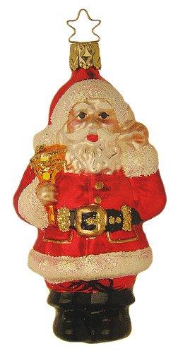 Inge-Glas Santa Ringing Bell Ornament Made in Germany