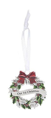 GANZ Wreath Ornament – Oyour 1St Christmas – Ornament Christmas Sentimental Gift EX26552