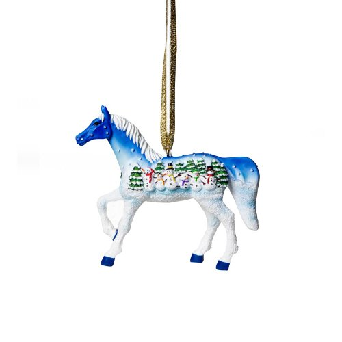 Trail of Painted Ponies Let it Snow Pony Hanging Ornament with Tin 2.38-Inch