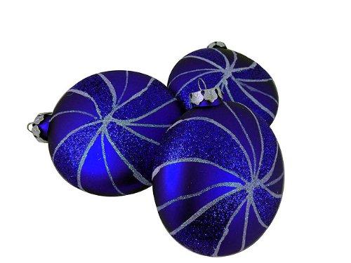 Vickerman Assorted Shape Swirl Ornament, 95mm, Blue
