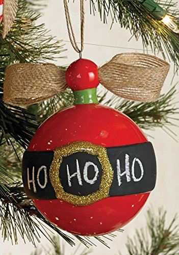 Mud Pie Christmas Chalk Ornaments (Red Belt)