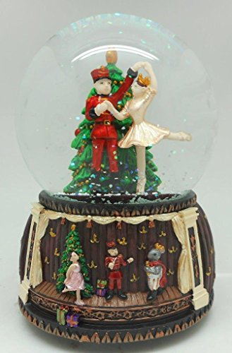 Lightahead® 100MM NUTCRACKER WITH STAGE SCENE musical water ball Table Top Decoration