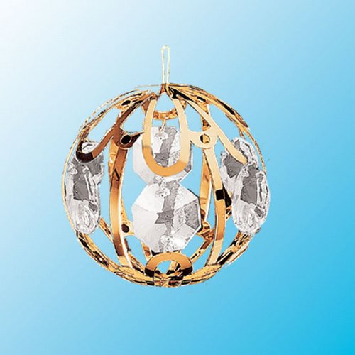 24k Gold Small Crystal Ball – Clear Swarovski Crystal