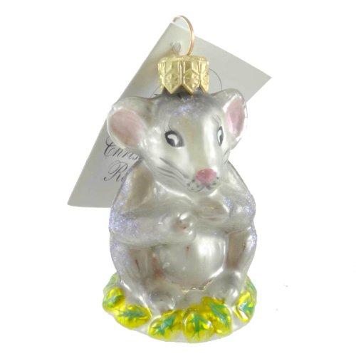 Christopher Radko WHISKERS Glass Ornament Mouse Christmas