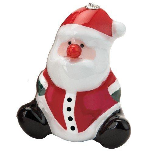 Santa Barbara Design Studio Merry and Bright Shatter Resistant Blinking Holiday Ornament, Sitting Santa