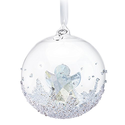 Swarovski Ornament 2015 (Multi-Variation) Annual Edition Christmas Snowflake Crystal Star, Xmas Ball, Angel, Xmas Bell (Large Ball)