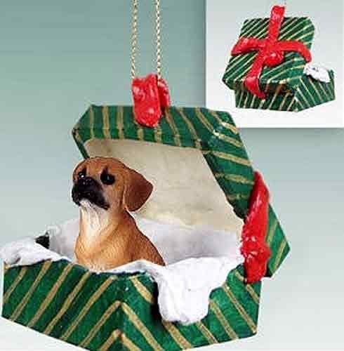 Puggle Gift Box Christmas Ornament Brown – DELIGHTFUL!