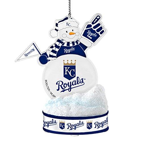MLB Kansas City Royals LED Snowman Ornament, White, 3.5″
