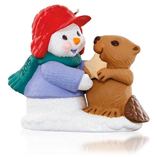 Hallmark Keepsake Ornament: Snow Buddies Snowman and Beaver: 18th in the Snow Buddies series