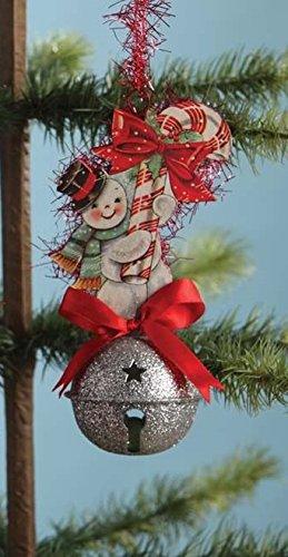 Bethany Lowe Retro Sleigh Bell Ornament LO3547 (Snowman)