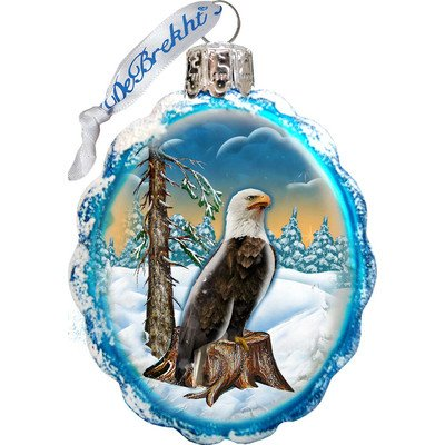 G. Debrekht Eagle Glass Ornament