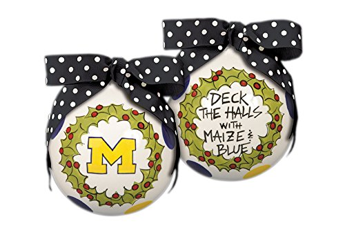 "Michigan "" Deck The Halls"" Hanging Christmas Tree Ornament"