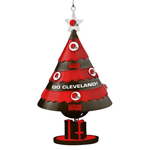 NFL Cleveland Browns Tree Bell Ornament, Orange, 5″