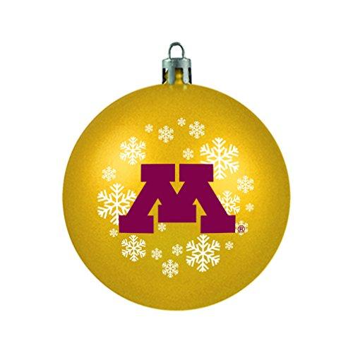 NCAA Minnesota Golden Gophers Shatterproof Ball Ornament, 3.125″, Red