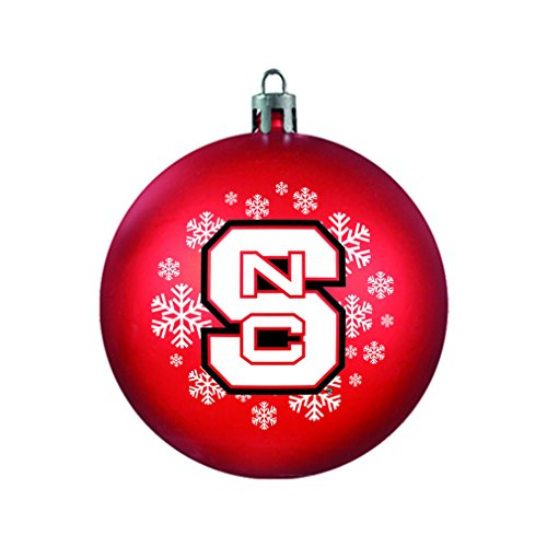 NCAA North Carolina State Wolfpack Shatterproof Ball Ornament, 3.125″, Red