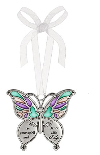 Ganz Butterfly Wishes Colored Ornament – Free your spirit and Dance with Life