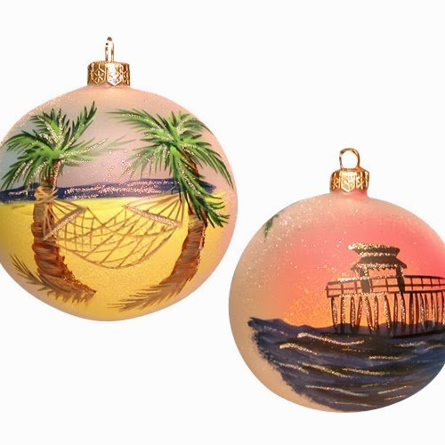 Ornaments To Remember Hammock (Naples Pier) Hand-Blown Glass Ornament
