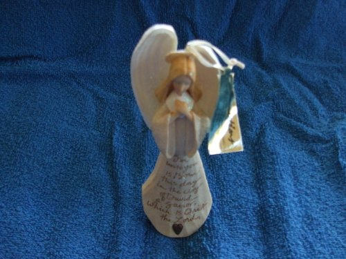 """Enesco Foundations Angel Ornament """"For Unto You is Born This Day"""" #118156"""