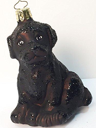 Ornaments To Remember Black Labrador Hand-Blown Glass Ornament
