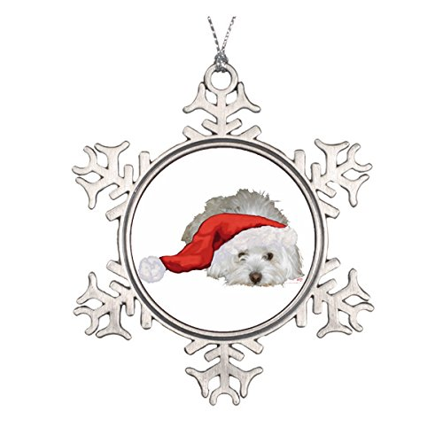Coton de Tulear – Waiting Double-Sided Ceramic Round Christmas Ornament