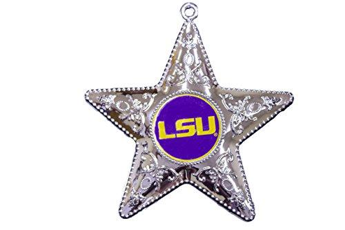 NCAA LSU Fighting Tigers Silver Star Ornament