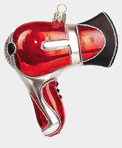 Hair Dryer Polish Mouth Blown Glass Christmas Ornament Barber Stylist Decoration
