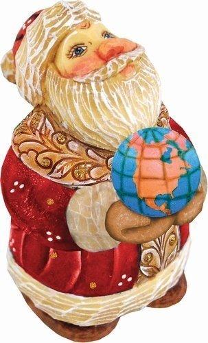 G.Debrekht 517661 Derevo Collection Santa Globe 4 in.