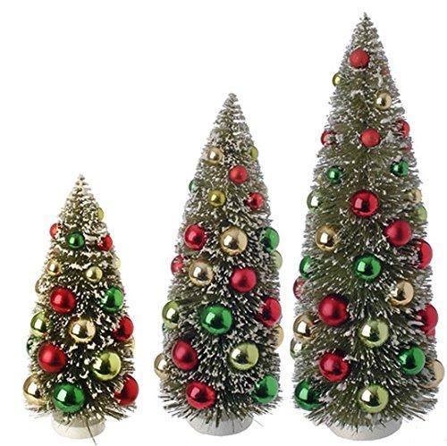 RAZ Imports – Set of 3 – Decorated Bottle Brush Trees