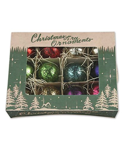 Bethany Lowe Jewel Toned Mercury Glass Ornaments – Set of 12