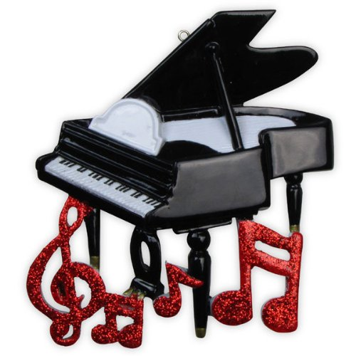Piano Personalized Christmas Holiday Ornament
