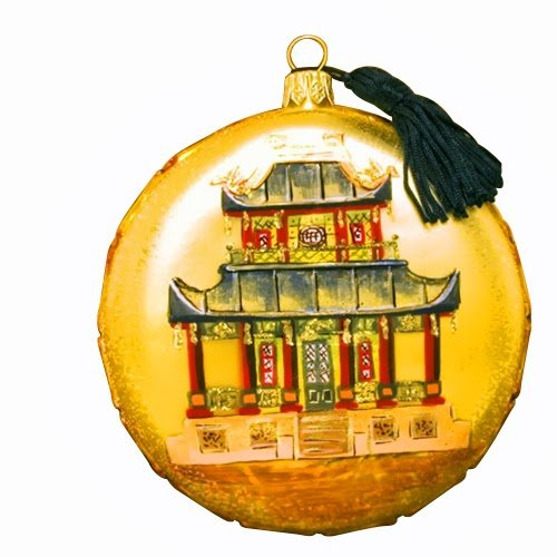 Ornaments to Remember: CHINOISERIE Christmas Ornament (House)