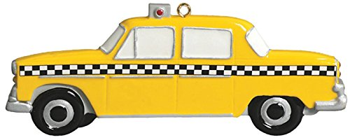Taxi Personalized Christmas Tree Ornament