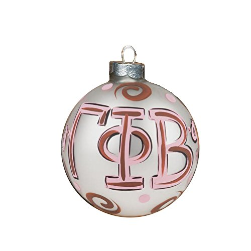 Glory Haus Gamma Phi Beta Glass Ornament, 4-Inch
