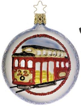Inge-Glas San Francisco Cable Car Christmas Ornament
