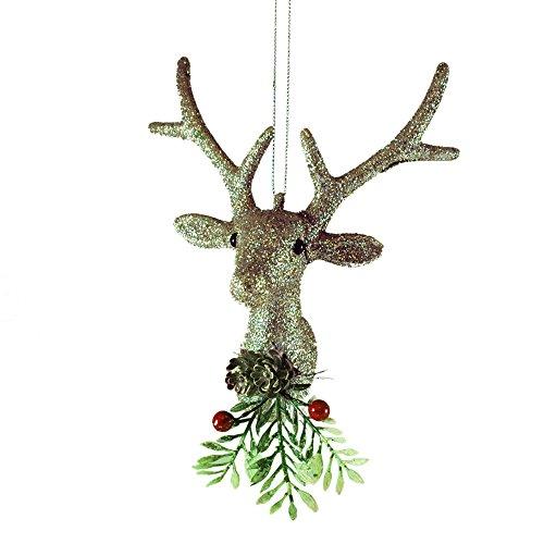 Silver Deer Head Ornament