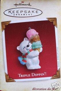 1 X TRIPLE DIPPIN' 2005 Hallmark Ornament WD3532