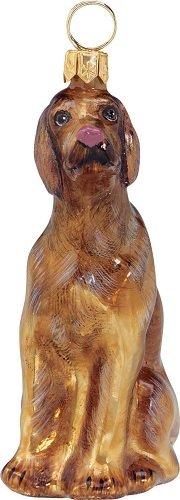 Hungarian Vizsla Dog Polish Blown Glass Christmas Ornament