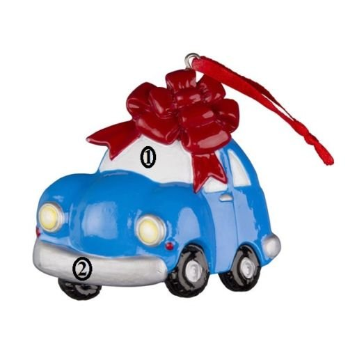 New Car Personalized Christmas Tree Ornament