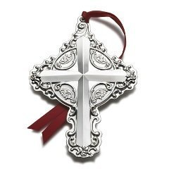 Wallace 2011 Sterling Silver Grande Baroque Cross 16th Edition Ornament by Wallace