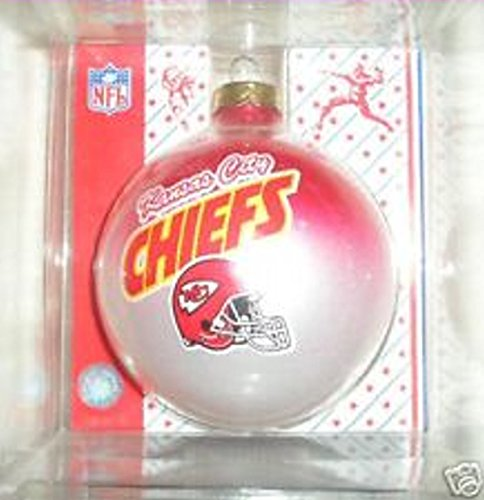 NFL Kansas City Chiefs Traditional 2 5/8″ Glass Christmas Ornament