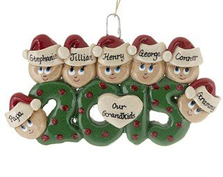 2015 Family Of 7 Personalized Christmas Tree Ornament