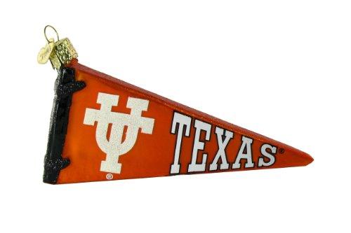 NCAA Texas Longhorns Glass Pennant Ornament