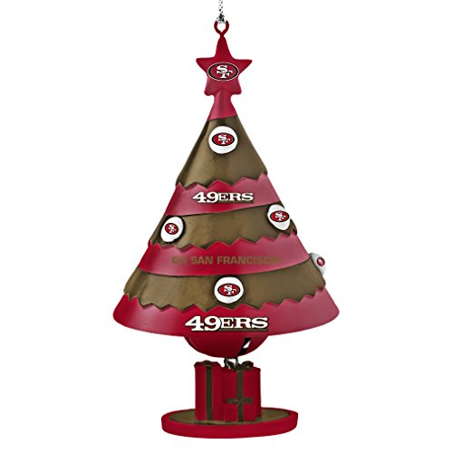 NFL San Francisco 49ers Tree Bell Ornament, Red, 5″