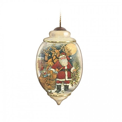 Precious Moments Ne'Qwa – Up On The Housetop – Ornaments NeQwa Hand-Painted Christmas 7131117-NQ13