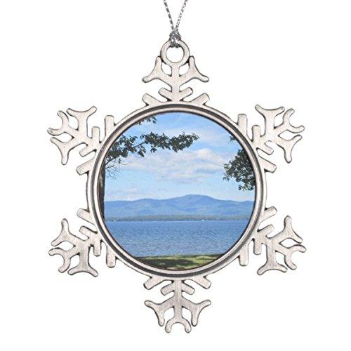 Follies Christmas Lake Winnipesaukee Snowflake Pewter Christmas Ornament