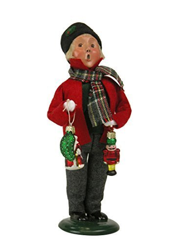 Byers Choice Caroler Boy with Glass Ornaments 2015 by Byers' Choice