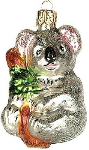 Wildlife Koala Bear Polish Glass Christmas Ornament Holiday Decoration