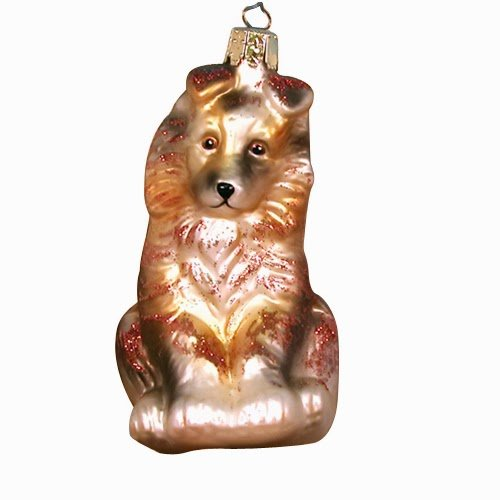 Ornaments to Remember: COLLIE PUPPY Christmas Ornament