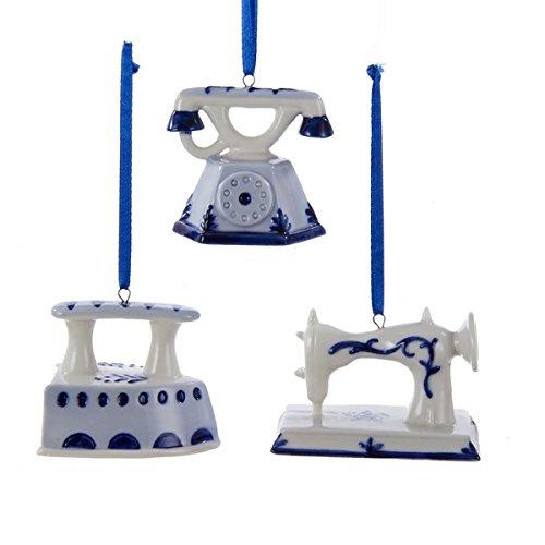 Kurt Adler Delft Blue Old World Ornament