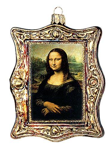 Mona Lisa Painting Leonardo Da Vinci Polish Glass Christmas Ornament Decoration